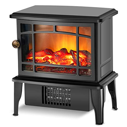 Fireplace Heater – Electric Fireplace Stove w/Fast Heating System, 500W Portable Space Hea ...