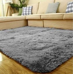 ACTCUT Super Soft Indoor Modern Shag Area Silky Smooth Rugs Fluffy Anti-Skid Shaggy Area Rug Din ...