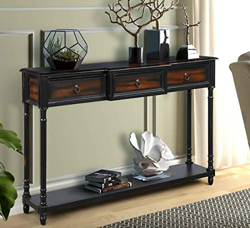 Console Table,Sofa Table with Drawers Luxurious and Exquisite Design for Entryway with Projectin ...