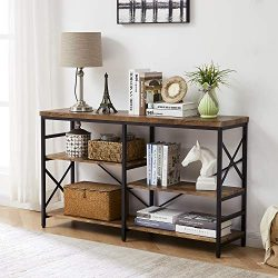 OIAHOMY Industrial Sofa Table,Console Table,3-Tier Industrial Rustic Hallway/Entryway Table,Eas ...