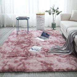 Yealsha Ultra Soft Indoor Modern Shag Area Rugs Fluffy Fluffy Rugs Anti-Skid Shaggy Area Rug Liv ...