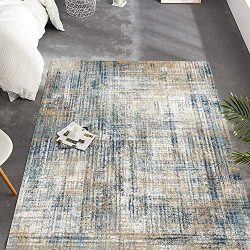 jinchan Area Rug for Living Room Kitchen Modern Abstract Colorful Floorcover Indoor Low Pile Mat ...